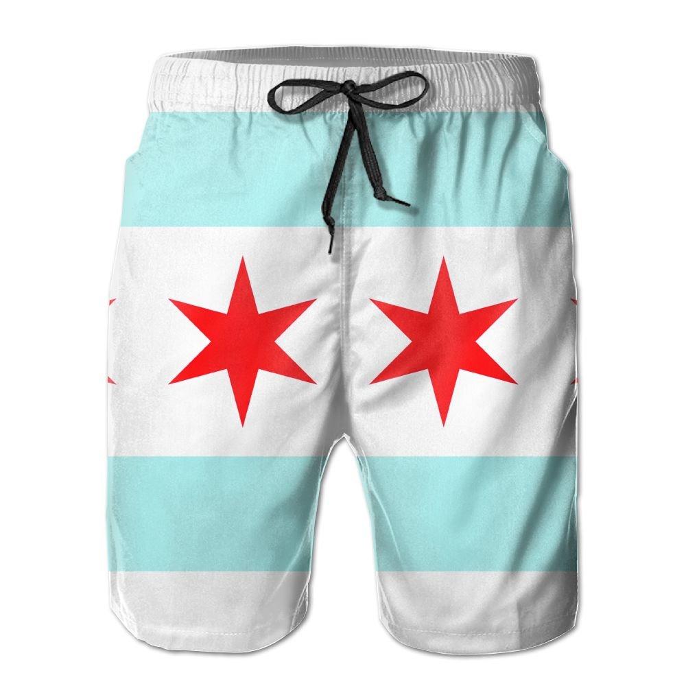 Chicago Flag Board Shorts For Men