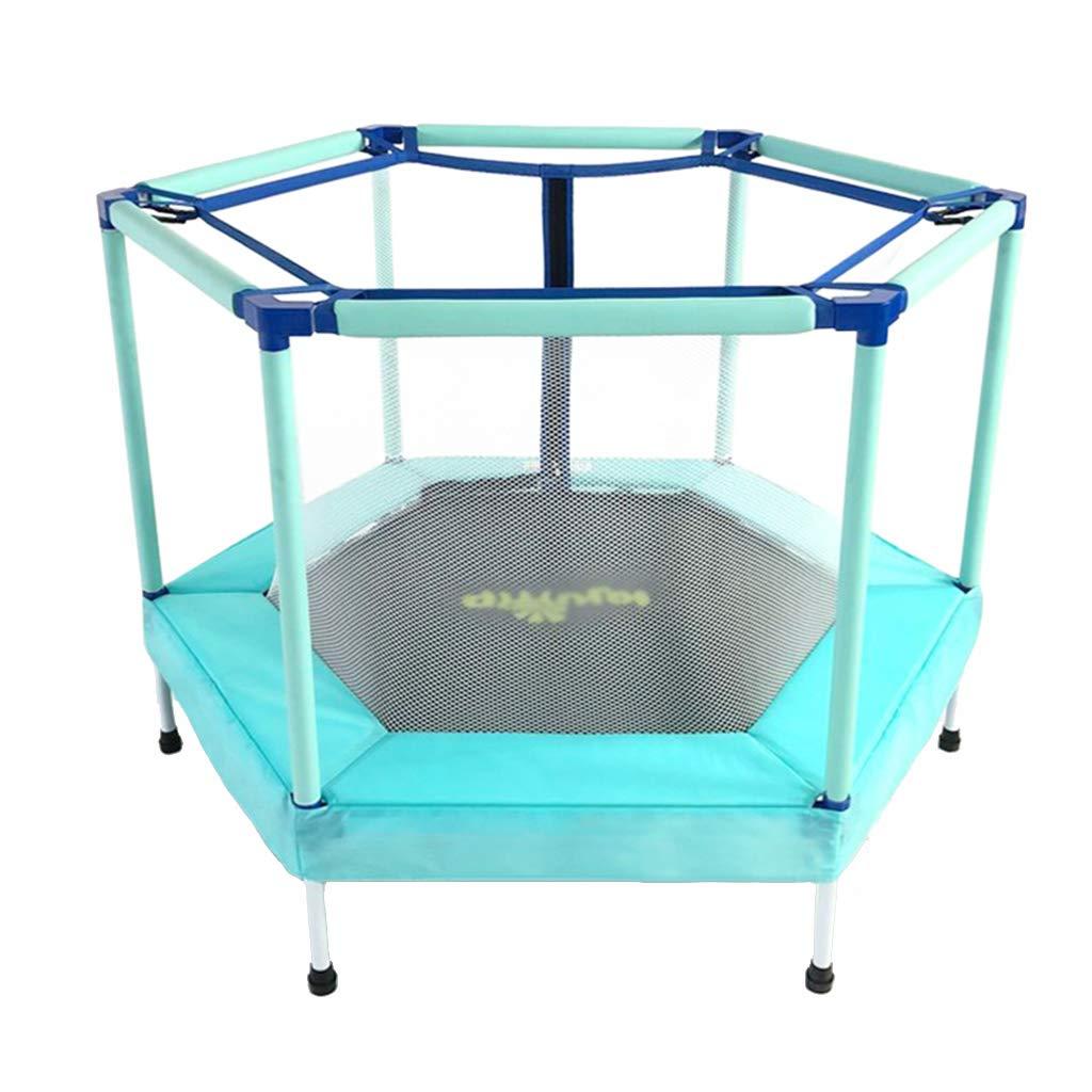 Trampoline Home Indoor Net Spielzeug-Geschenk 100 kg tragen (Farbe : Blau, Größe : 122  122  87cm)