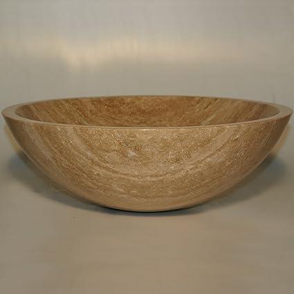 Bathroom Travertine Stone Vessel Vanity Sink Bowl Lavatory Basin 29b