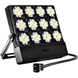SANSI 60-70W (500w Equiv.) Outdoor LED Security Flood Light with Plug, Daylight 5700K, Super Bright 7000lm, IP66 Waterproof