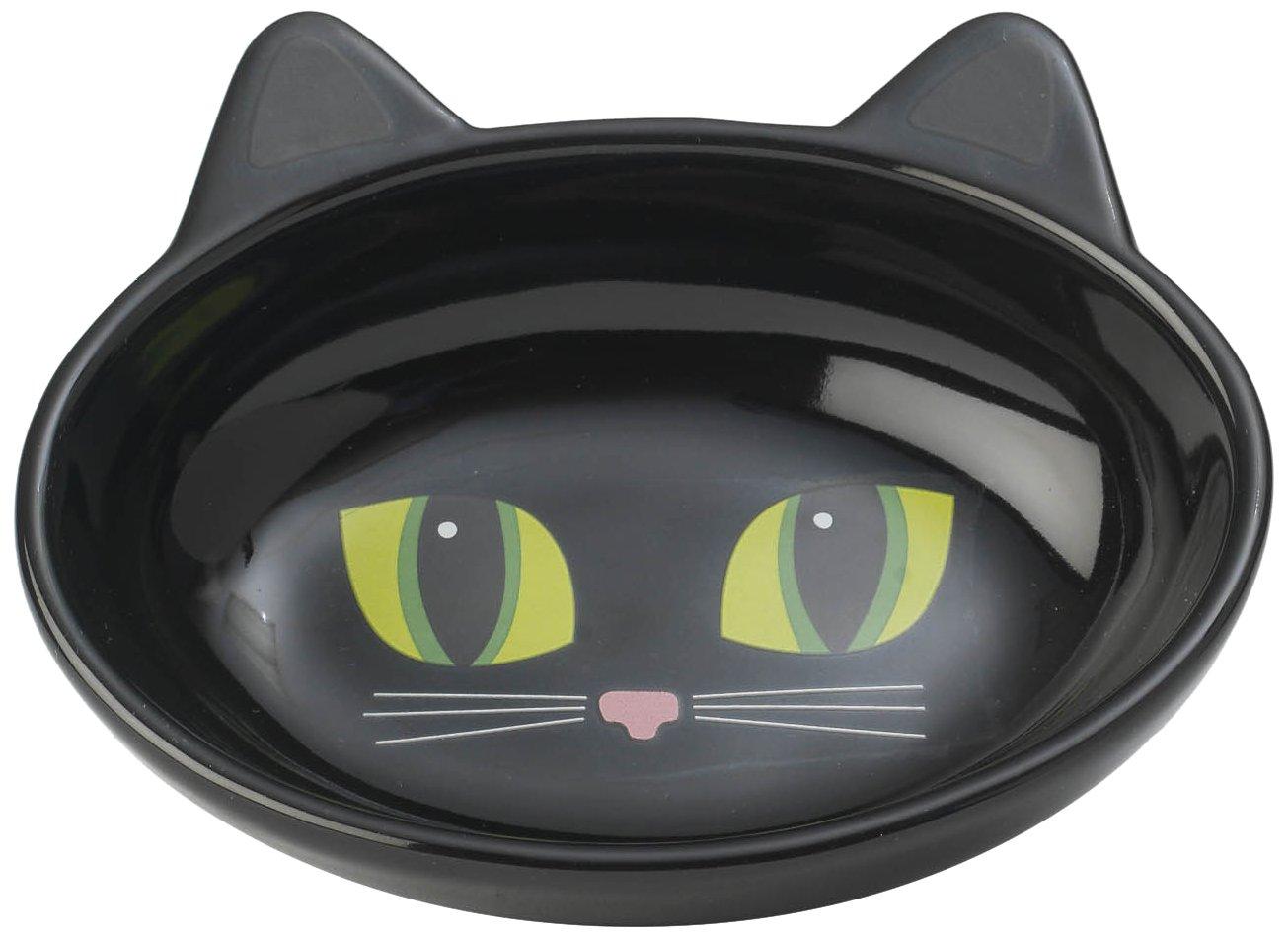amazoncom petrageous oval frisky kitty pet bowl 55inch black cat bowls pet supplies - Cat Bowls