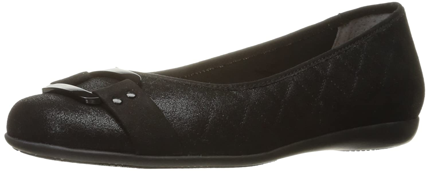 Trotters Women's Sizzle Signature Ballet Flat B01N4ITQ3W 12 B(M) US|Black Quilted