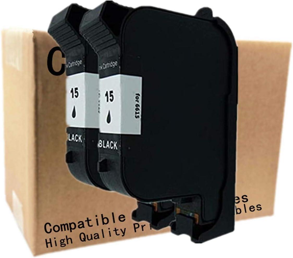 No-name Remanufactured Ink Cartridges Replacement for HP 15 XL 15XL HP15 HP15XL C6615A Color Copier 110 120 140 145 150 155 160 170 210 210 LX 260 270 290 Fax 1230xi PhotoSmart P1100xi 2 Black