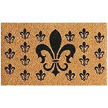 "Rubber-Cal ""French Coat of Arms"" Fleur De Lis Doormat, 18 x 30"""