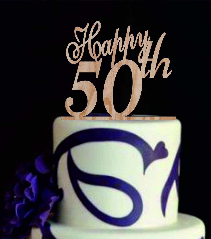 Decoración para tarta de 50 cumpleaños, 50 años, decoración ...