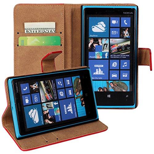 Lumia 920 Case, iCoverCase Genuine Leather Magnetic Flip [Card Slot] Wallet Cover Kickstand Case for Nokia Lumia 920 (Yellow) Photo #6
