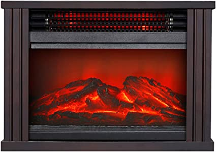 Crzj Freestanding Heater Lanterns 1500w Freestanding Portable 3d Led Electric Fireplace Mantel Heater Stove Black Rectangle Amazon Co Uk Kitchen Home