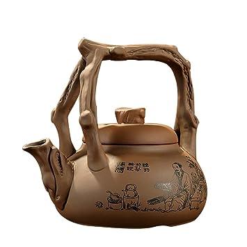 NUBAOGY Arroz de Arena púrpura Hervidor de Agua de cerámica Tetera hervida de cerámica Estufa de cerámica eléctrica Tetera Kung Fu Tetera: Amazon.es: Hogar