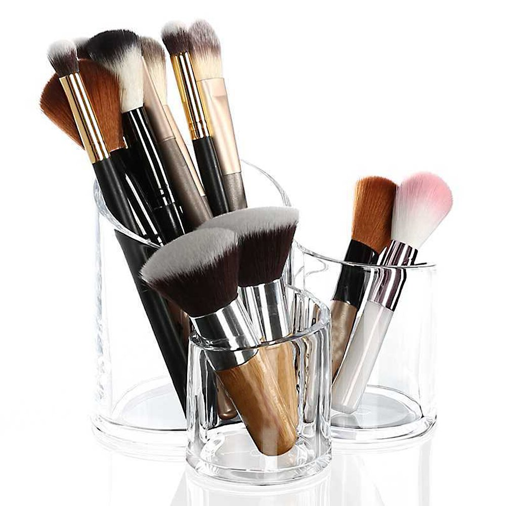 Brand New Clear Acrylic Storage Case Makeup Nail Brush Holder Organiser Cosmetic Display Storage Case The Best Kingdom