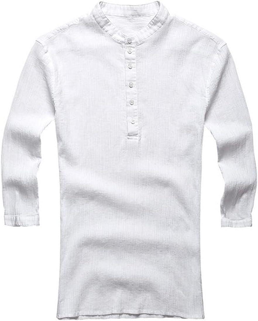 Abetteric Mens Fresh Small Plaid Fine Cotton Long Sleeve Button Shirts