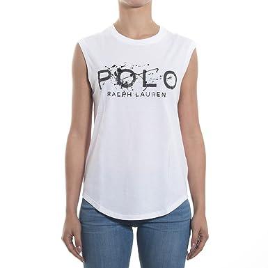 T-shirt sans manches Ralph Lauren blanc pour femme  Amazon.fr  Vêtements et  accessoires a77e485045b