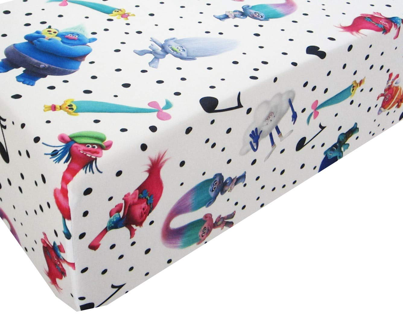 Trolls Life The Happy Trolls Love Life 100% Polyester (Fitted Sheet ONLY) Size Twin Girls Kids Bedding