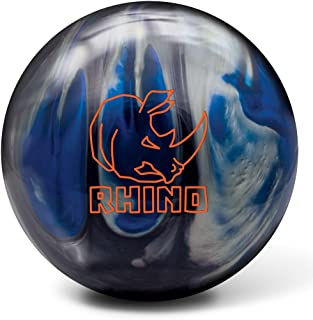 Brunswick Bowlingball RHINO div Farben und Größen (Black/Blue/Silver Pearl, 14 Lbs)