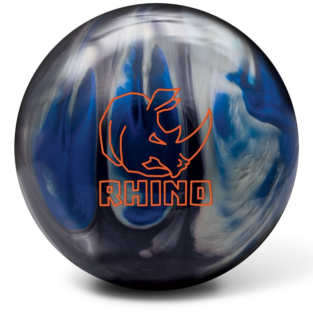 Brunswick Bowlingball RHINO div Farben und Größen (Black/Blue/Silver Pearl, 15 Lbs) 60105815935