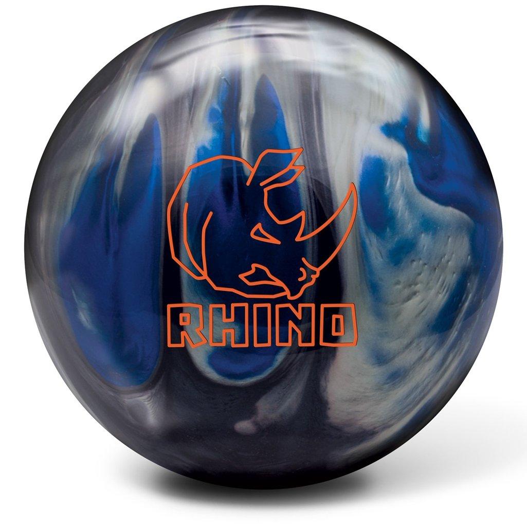 Brunswick Rhino Bowling Ball, Black/Blue/Silver, 10 lb