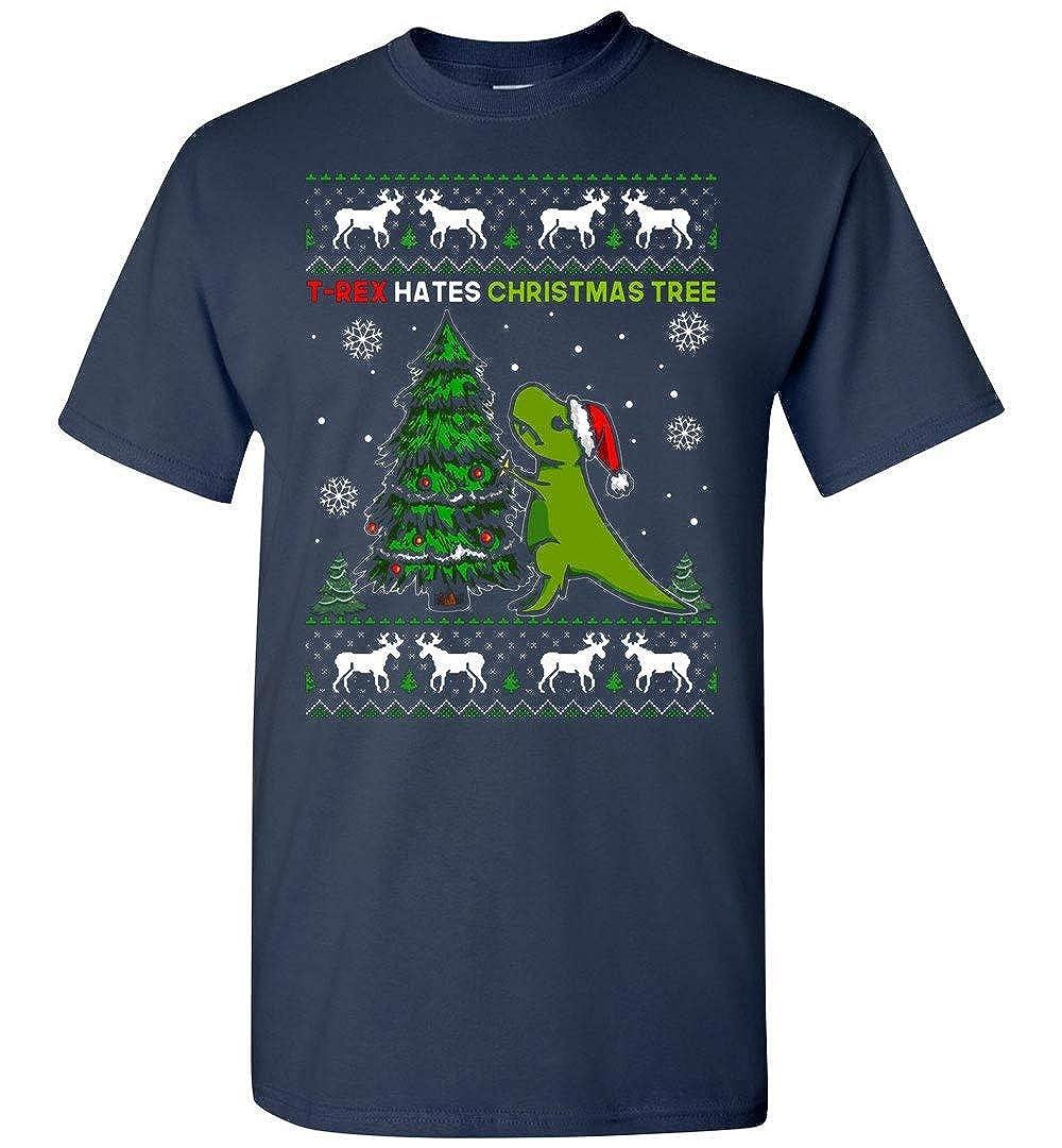 T Rex Hates Christmas T Shirt Adult And 3735   Kitilan