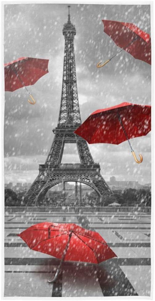 LUPINZ Toalla de Mano París Torre Eiffel con Paraguas voladores ...