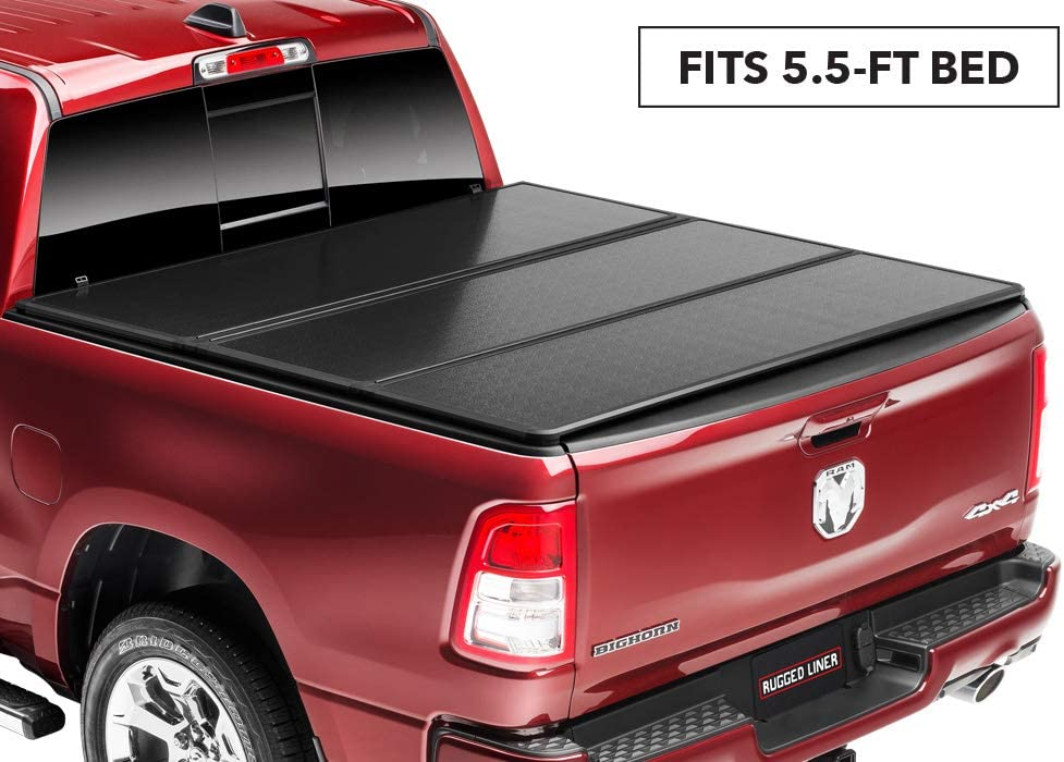 Rugged Liner E-Series Hard Folding Truck Bed Tonneau Cover | EH-TUN5514 | fits 14-18 Tundra 5.5ft