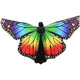 K-youth® Danza Del Vientre Mariposa Alas De ángel Adulto Suave Rainbow Mariposa Alas Danza Disfraz Accesorio Alas De Mariposa Tela Chal Bufanda Señoras Vestido Para Disfraz