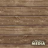 Hampton Art MixThe Media Wooden Plank Plaque, 10x10-Inch