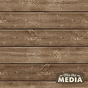 Hampton Art Mix The Media Wooden Plank Plaque, 10 by 10-Inch