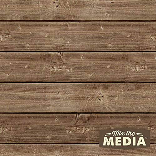 Hampton Art JB0431 Mix The Media Wooden Plank Plaque, 10 by 10-Inch
