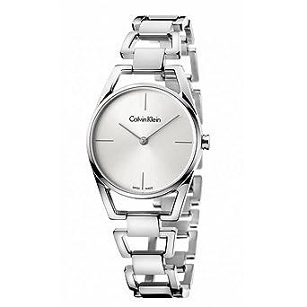 82a95dea21 Amazon.com: Calvin Klein K7L23146 Dainty Silver Tone Women's Watch ...