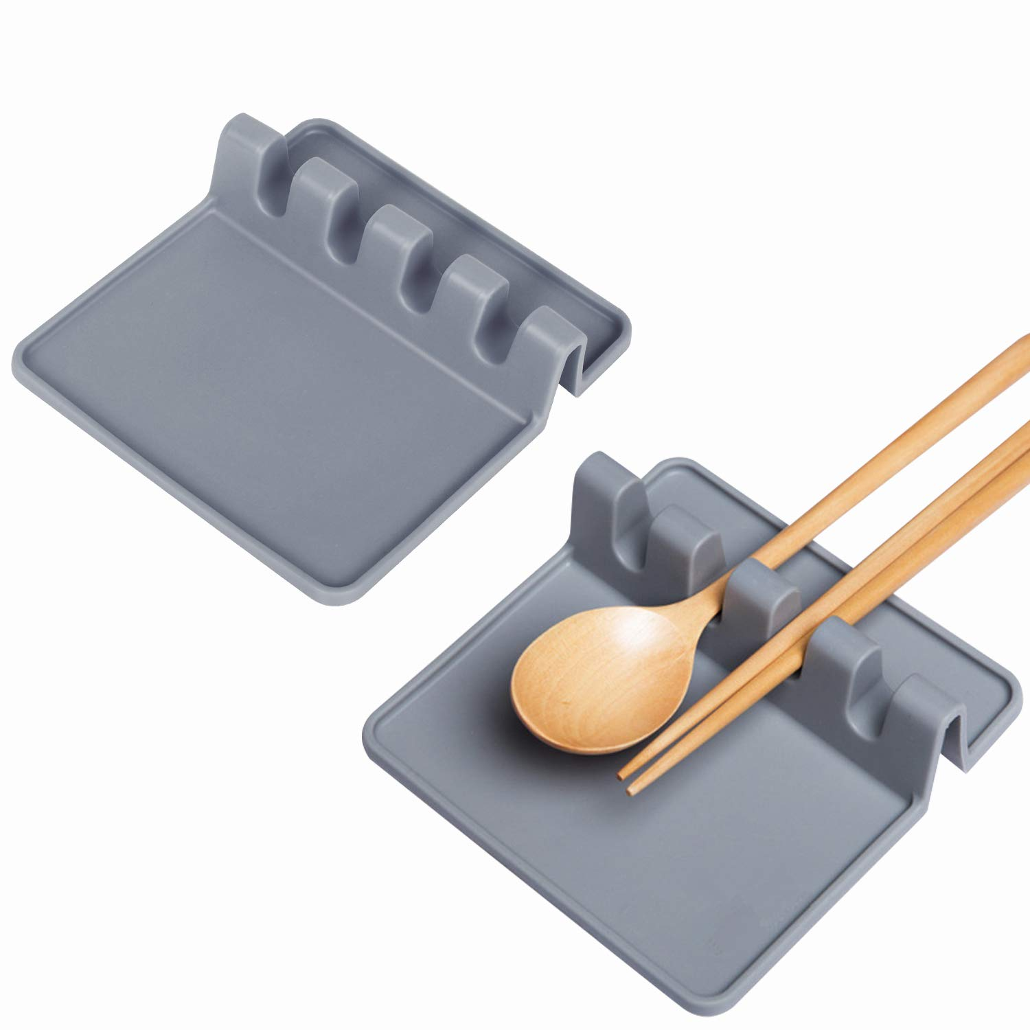 Luxamary Christmas Spoon Rest for Stove Top, 2 Pack Silicone Utensils Rest for Kitchen, Coffee Spoon Rest by Luxamary