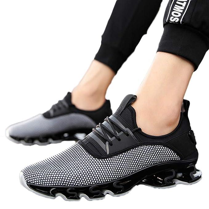 06190c3249f0 SUCES Herren Sneaker,Beiläufige Männer Flache Lace Up Laufschuhe Männer  Verschleißfeste Atmungsaktive Sportschuhe Running Wanderschuhe
