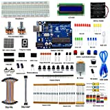Adeept Super Starter Kit for Arduino UNO R3, LCD1602, Breadboad, DC Motor, Starter/Beginner Kit for Arduino with User Manual/Guidebook and C Code