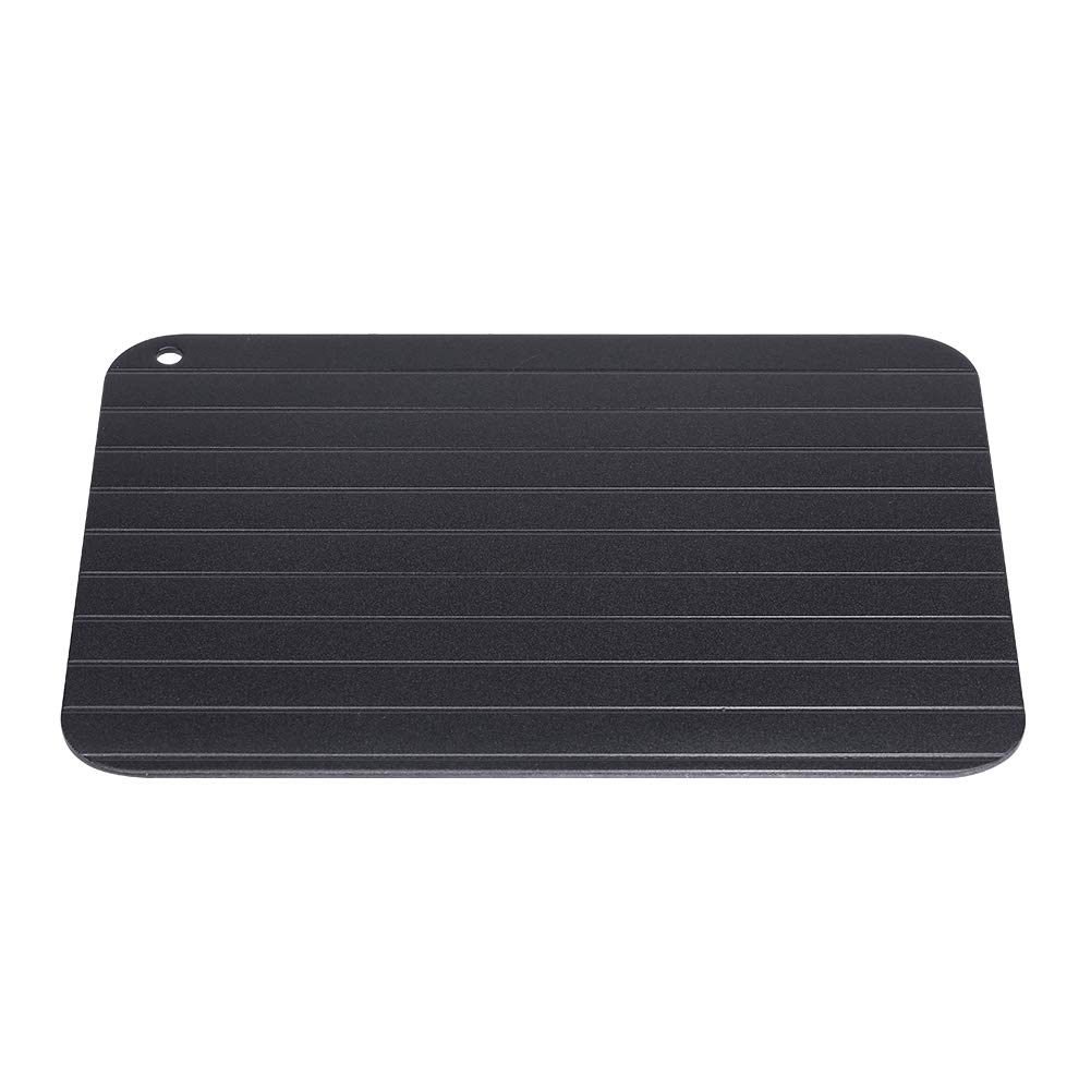 Food Thawing Defrosting Plate,Jadpes 23x16.5x0.2cm Metal High Density Aviation Aluminum Trumpet Fast Defrosting Frozen Food Thaw Plate Meat Defrosting Thawing Tray Plate for Home Kitchen Bee
