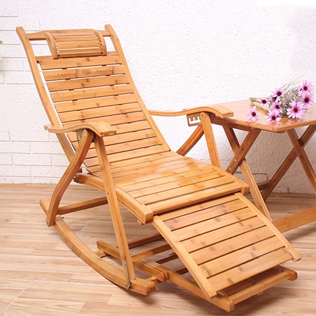 SjYsXm-tumbonas Silla Mecedora de bambú Silla de salón ...