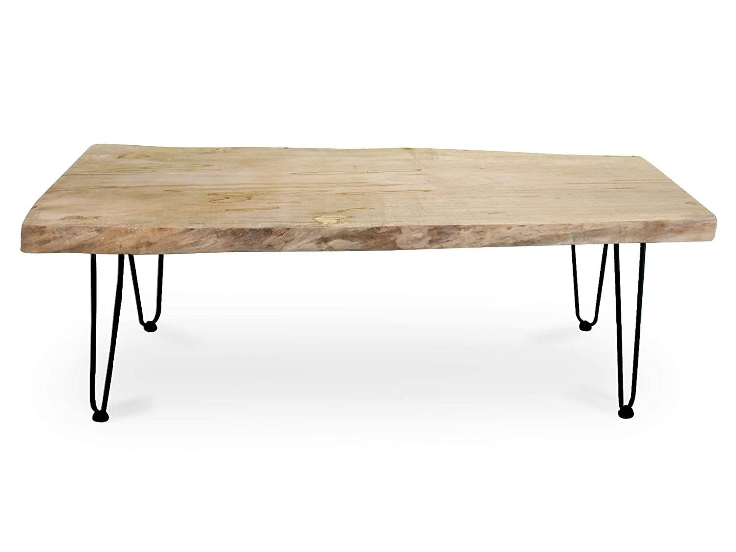 Amazon Com Live Edge Spalted Ambrosia Slab Coffee Table With