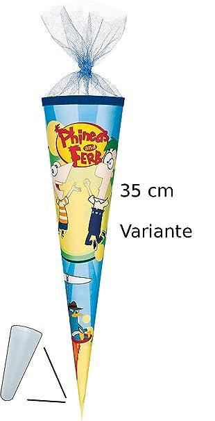 50 35 70 Phineas und Ferb 22 85 cm mit Tüllabschluß Filz Schultüte