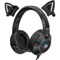 Peaches Stores Gaming-headset voor pc, nieuwe K9 Black Wired Game Cat Ear Headset Gaming-hoofdtelefoon met…