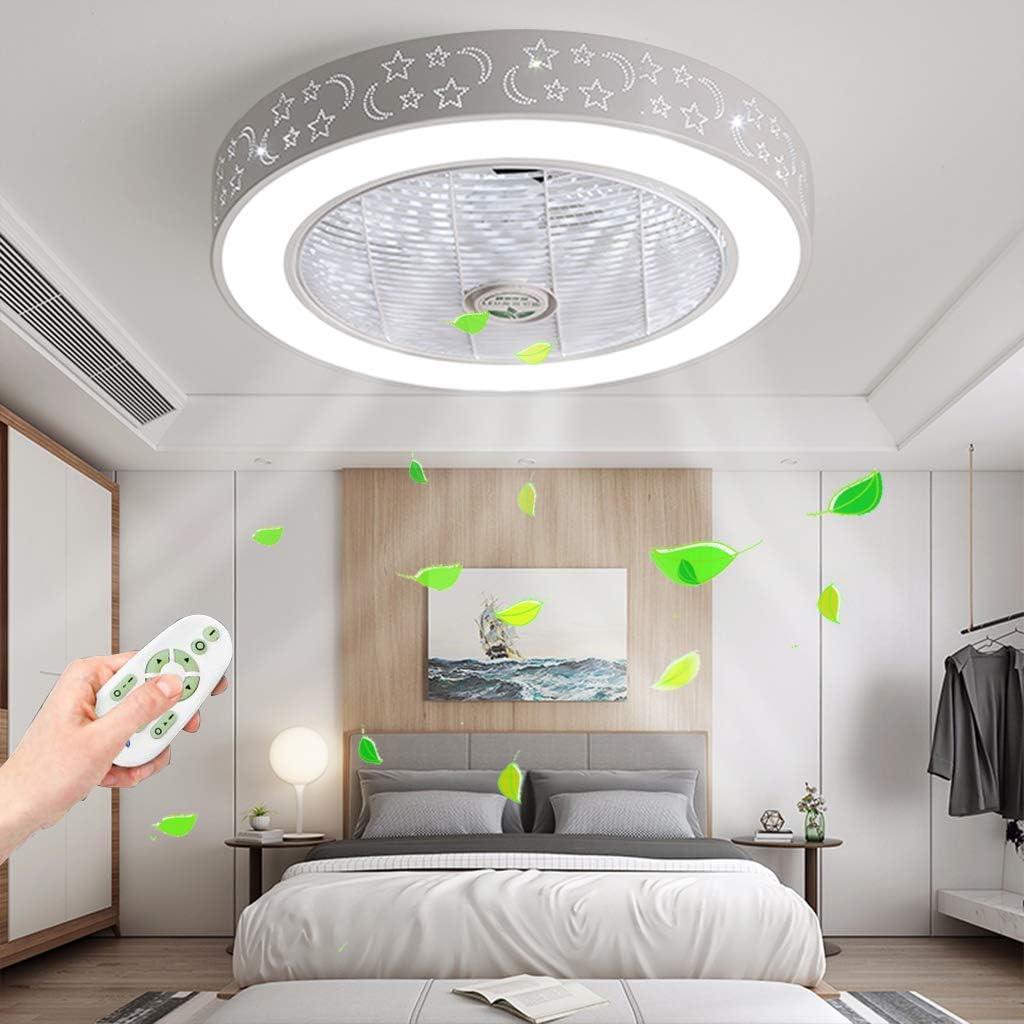 Ventilador De Techo Con Luz LED Lightingfan, Ajustable La Velocidad Del Viento Regulable Con Control Remoto Control De Techo 40W De Techo Para El Dormitorio Salón Comedor De Roomchildren Habitación
