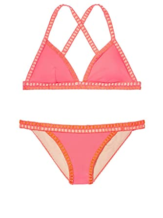 23e2d5e139 Victoria's Secret Swim The Crochet-trim Teeny Triangle Top L Crochet-trim  Cheeky M