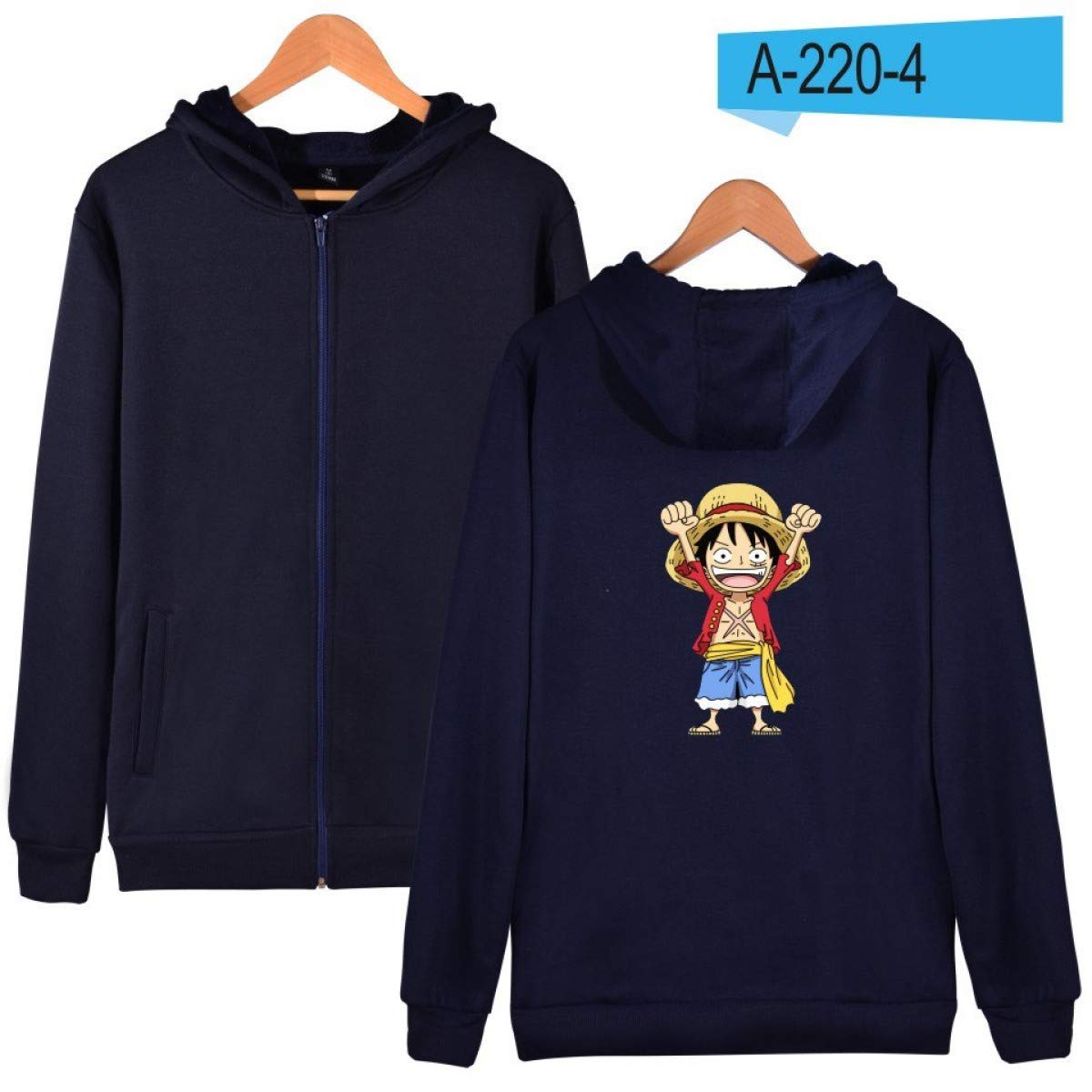 Amazon.com: FLAMINGO_STORE Mens Hoodies Sweatshirts Cartoon Coat Anime Hoodies Mens Zipper Luffy Clothes: Clothing