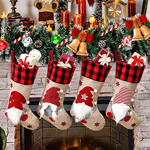 Christmas Stockings 4 Pack, 18