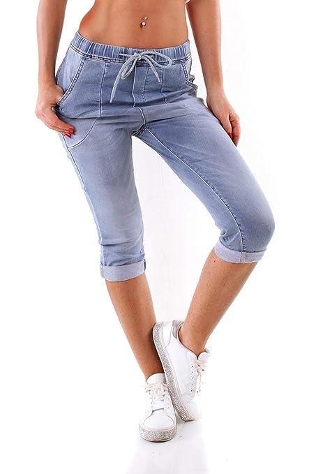 OSAB-Fashion 5100 Damen Jeans KAROSTAR by LEXXURY Joggpants Hose Boyfriend Gummizug Knielang Slimfit