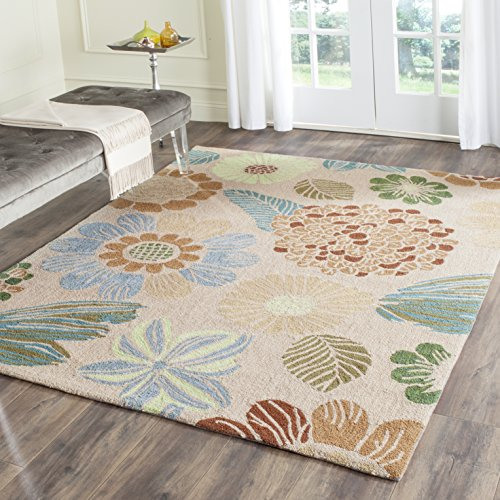 Safavieh Four Seasons Collection FRS391H Hand-Hooked Cream Indoor/ Outdoor Area Rug (8' x 10')