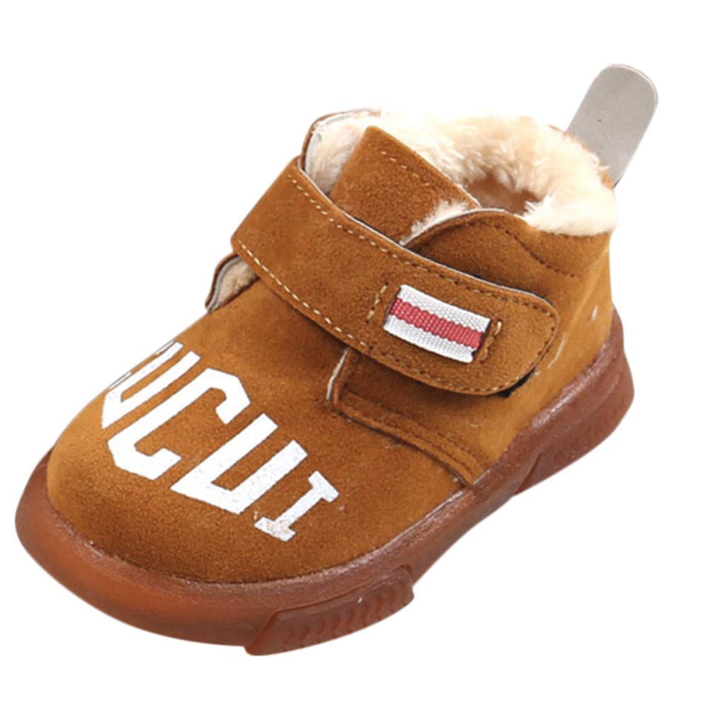 Lurryly❤Girls Boys Casual Warm Mid Martin Boots Snow Boots Shoes Toddler//Little Kid//Big Kid