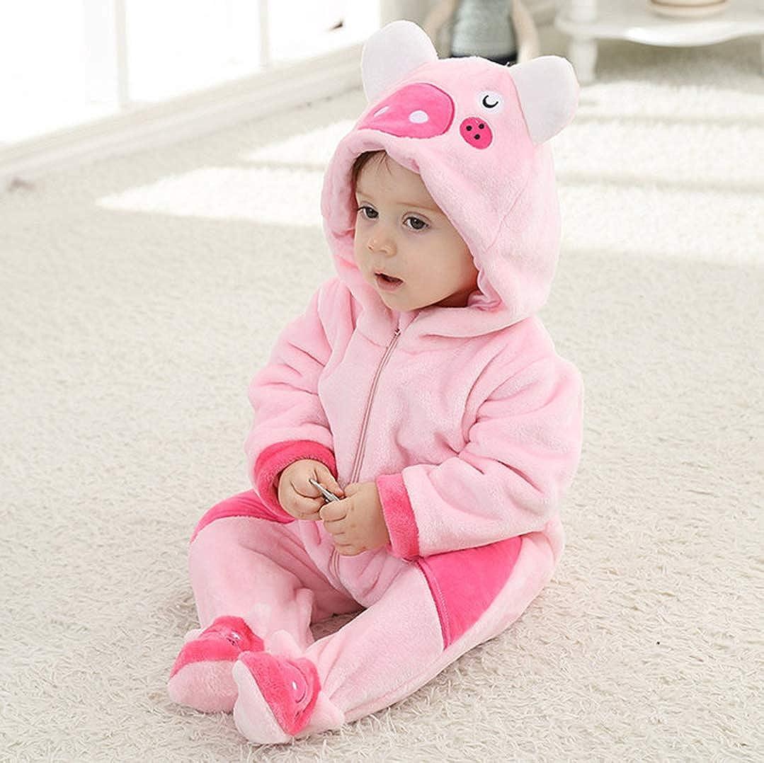 Baby Animal Pajamas Onesie Romper Costume Unisex Cute Hooded Cartoon Outfit Suit for Boy//Girl