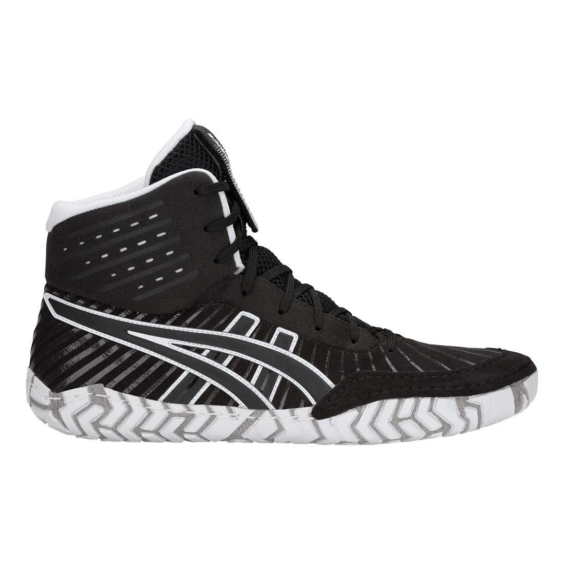 Black//Black ASICS Aggressor 4 Mens Wrestling Shoes 8.5