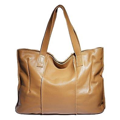 e5cbbd1eb47 Daiwenwo Genuine Leather Perfect Designer Tote Top Handle Ladies Shoulder  Bag Zippered Messenger Bag Satchel Purse