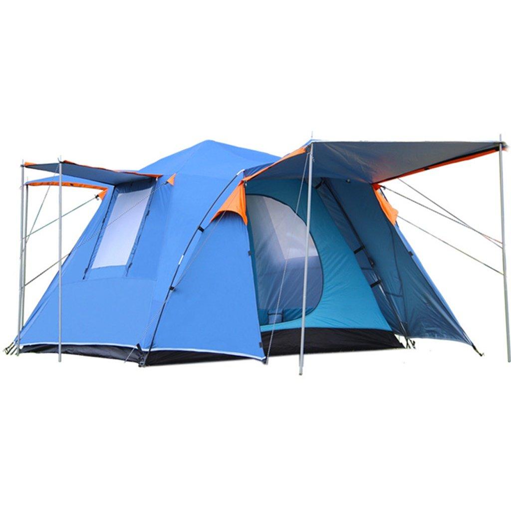 自動屋外テント3-4人ダブル防水パークファミリーパッケージキャンプテント のテント   B07GJ9DFMQ