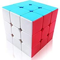 FAVNIC 3x3 Speed Cube Stickerless Puzzle Magic Cube for Kids Toys