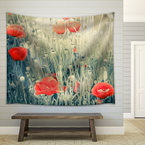 Abstract Floral Background in Vintage Style with Soft Selective Focus Fabric Wall Tapestry