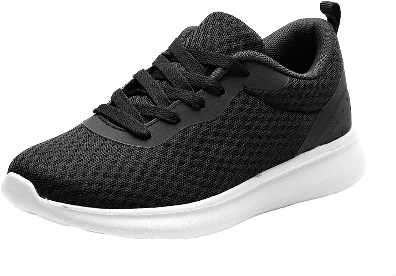 WUIWUIYU Baskets Chaussures Homme Femme Outdoor Running Gym Fitness Sport Sneakers Style Respirante Noir