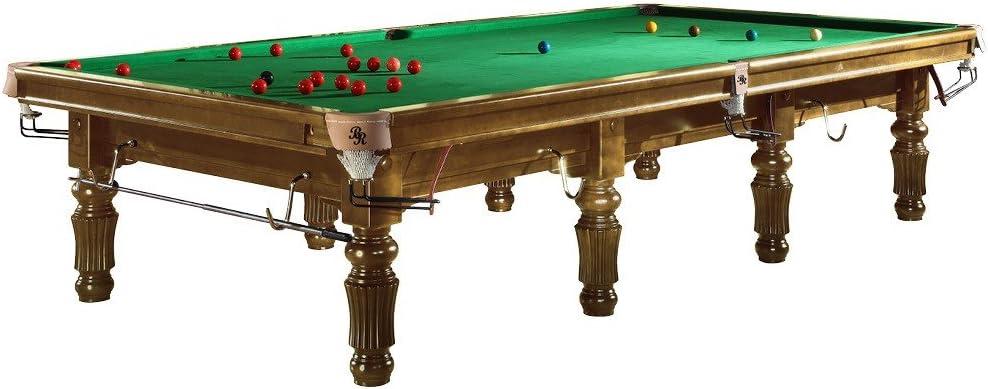 Mesa de billar snooker Modelo bardossa II con paño verde – Mesa ...